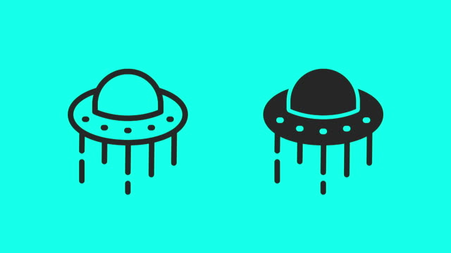 ufo icons-vector animate - antike kultur stock-videos und b-roll-filmmaterial