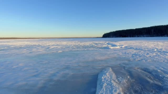 icy lake - frozen video stock e b–roll