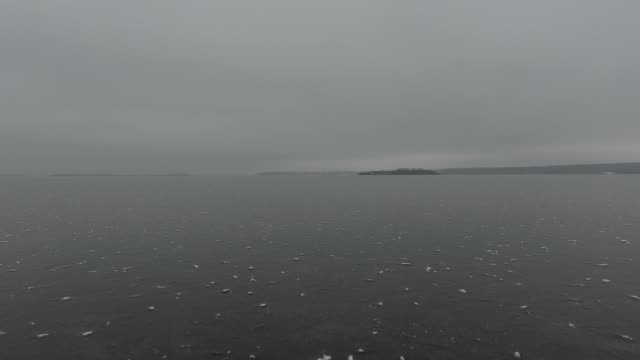 icy lakeshore - overcast stock videos & royalty-free footage