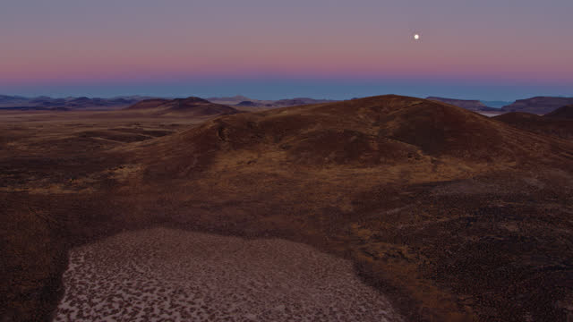 icy patches in lunar crater national natural landmark - drone shot - natural landmark stock videos & royalty-free footage