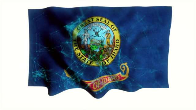 idaho flag waving animation - idaho stock videos & royalty-free footage
