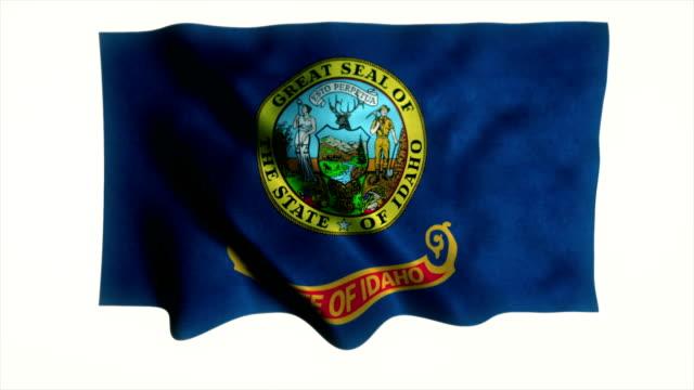 Idaho flag waving animation