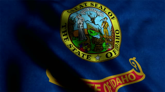 idaho flag waving animation - country geographic area stock videos and b-roll footage