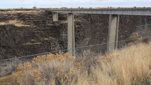 idaho high bridge over snake river - snake river stock videos and b-roll footage