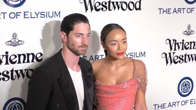 Iddo Goldberg and Ashley Madekwe at The Art of Elysium's 9th Annual HEAVEN Gala at 3LABS in Culver City at Celebrity Sightings in Los Angeles on...