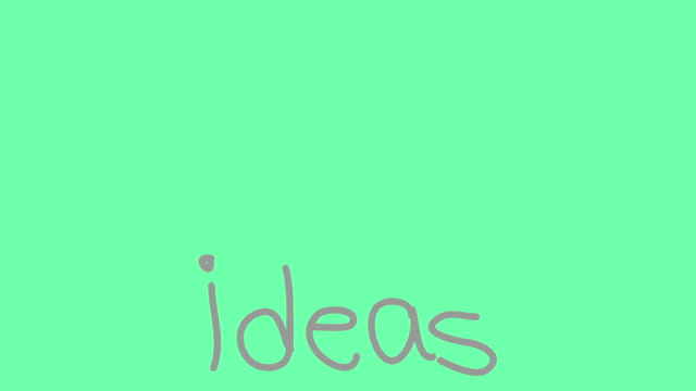 ideas light bulb loop - matte board stock videos & royalty-free footage