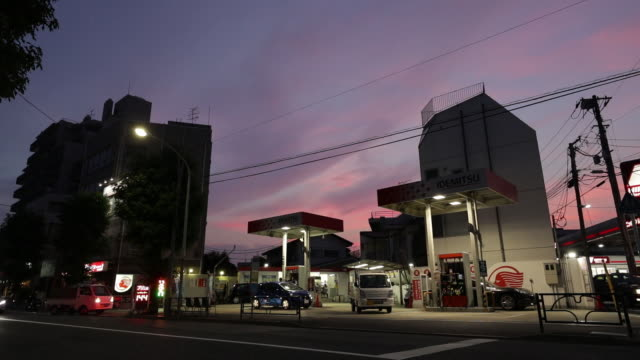 idemitsu kosan co. and showa shell sekiyu k.k. gasoline stations stand in tokyo, japan, on tuesday, july 17, 2018. - personal land vehicle stock videos & royalty-free footage