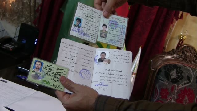 identity cards of fighters of islamic state of iraq and the levant isis or daesh captured by kurdish people's protection unit ypg in syrian kurdistan... - eddie gerald stock videos & royalty-free footage