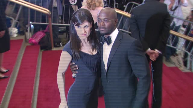 Idina Menzel and Taye Diggs at the Metropolitan Museum of Art Costume Institute Gala 'Poiret King of Fashion' at the Metropolitan Museum of Art in...