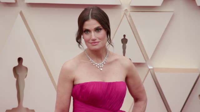 idina menzel at the 92nd annual academy awards at dolby theatre on february 09, 2020 in hollywood, california. - academy of motion picture arts and sciences stock videos & royalty-free footage