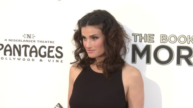 idina menzel at the book of mormon los angeles opening night on 9/12/12 in los angeles ca - mormonism stock videos & royalty-free footage