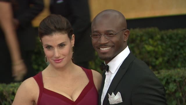 Idina Menzel Taye Diggs at 19th Annual Screen Actors Guild Awards Arrivals on 1/27/13 in Los Angeles CA