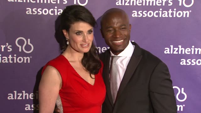Idina Menzel Taye Diggs at the 19th Annual 'A Night At Sardi's' Benefitting The Alzheimer's Association at Beverly Hills CA