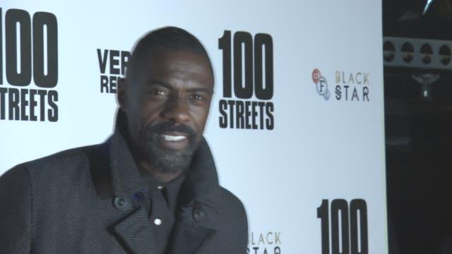 Idris Elba at '100 Streets' UK Film Premiere at BFI Southbank on November 08 2016 in London England