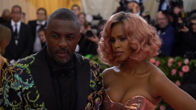 idris elba at the 2019 met gala celebrating camp notes on fashion arrivals at metropolitan museum of art on may 06 2019 in new york city - met gala 2019 stock videos and b-roll footage