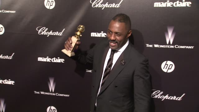 vidéos et rushes de idris elba at the weinstein company golden globe after-party at the beverly hilton hotel on 1/15/12 in los angeles, ca. - golden globe awards