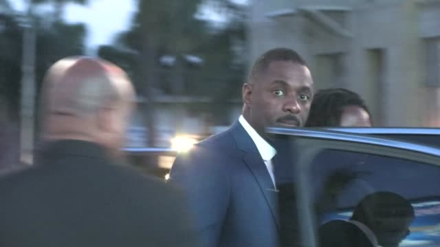 Idris Elba leaving the Thor Premiere in Hollywood