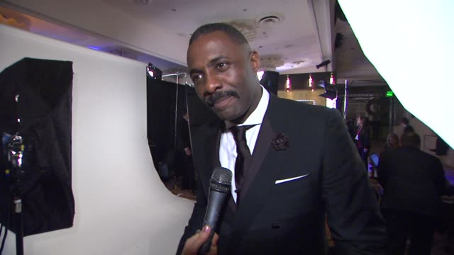 Idris Elba on his win tonight at 69th Annual Golden Globe Awards Backstage Portrait Studio in Beverly Hills CA on 1/15/12