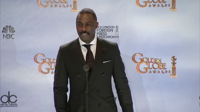 vidéos et rushes de idris elba on how fantastic it feels at 69th annual golden globe awards - press room on 1/15/2012 in beverly hills, ca. - golden globe awards