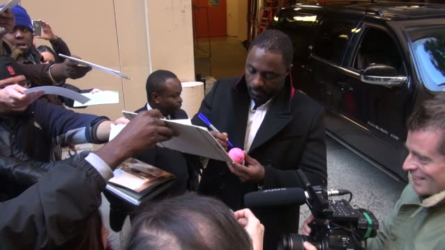 Idris Elba with fans at the 'LIVE with Kelly and Michael' studio at Celebrity Sightings in New York in New York NY on