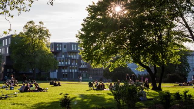 idyllischen stadtpark - frühling stock-videos und b-roll-filmmaterial
