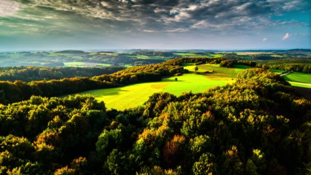 idyllic countryside green fields - eifel germany - north rhine westphalia stock videos & royalty-free footage