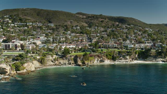 idyllic morning in laguna beach - aerial - laguna beach california stock videos & royalty-free footage
