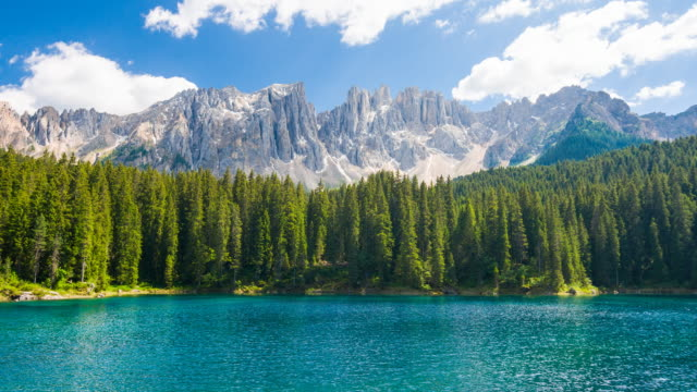 Idyllic mountain landscape with lake