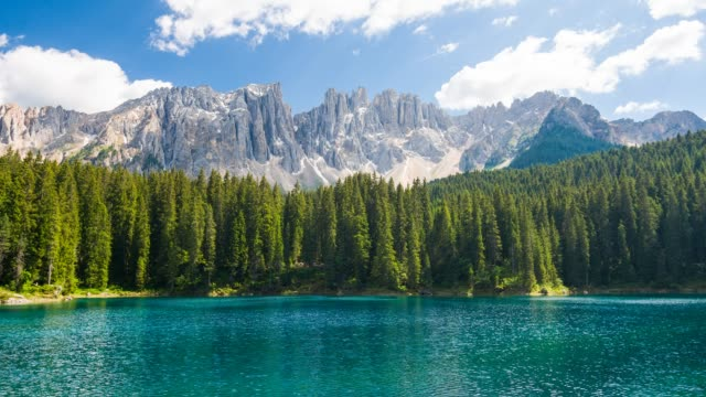 idyllic mountain landscape with lake - pinaceae stock videos & royalty-free footage
