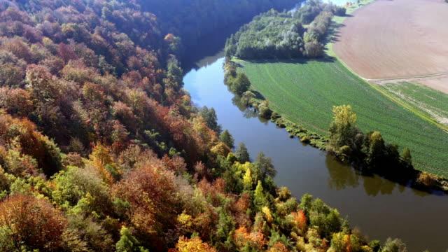 Idyllic River Valley In Autumn