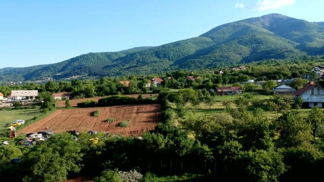 Idyllic rural,aerial view