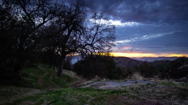 idyllic sunset in mountain home, california - time lapse - santa cruz california stock videos and b-roll footage
