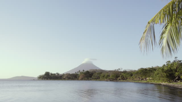 idyllic tropical landscape at ometepe island - nicaragua stock videos and b-roll footage