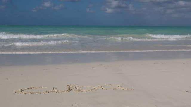 idyllic tropical sand beach landscape, cayo coco, cuba - water sport stock videos and b-roll footage