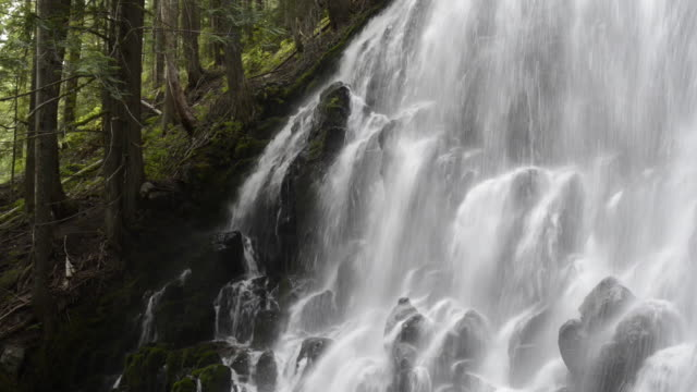Idyllic view of Ramona Falls at Mt. Hood National forest
