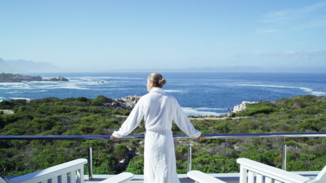 if heaven had a hotel this would be it - bathrobe stock videos & royalty-free footage