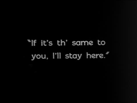 """vidéos et rushes de b/w 1924 """"if it's th' same to you, i'll stay here."""" / feature - 1924"""