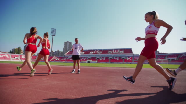 if you want to be the best you need to dedicate yourself - running track stock videos & royalty-free footage
