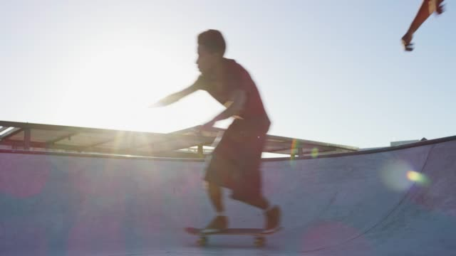 if you're not skating you're not having fun - sports ramp stock videos and b-roll footage