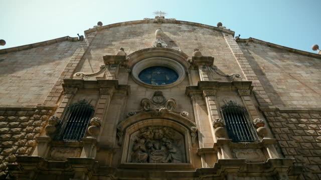 カボファルソ betlem 教会のバルセロナ - ゴシック地区点の映像素材/bロール