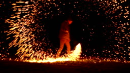Igniting Wire Wool and Spinning it