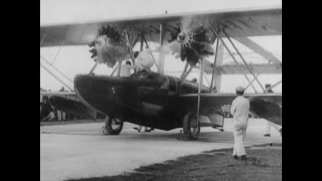 igor sikorsky in 1953 speaking about being in cuba with charles lindbergh and sketching a transatlantic clipper / lindbergh and sikorsky getting out... - 1953 stock videos and b-roll footage