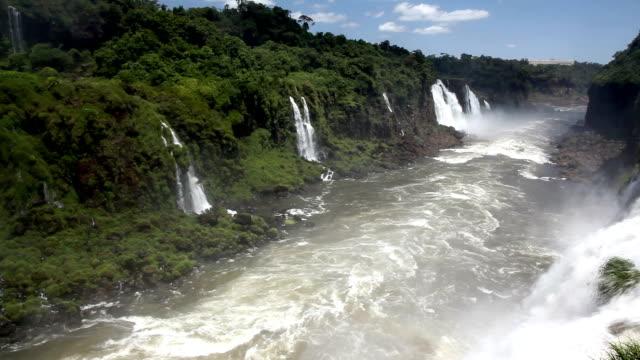 iguazu falls, argentina side - rapid stock videos & royalty-free footage