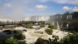 Iguazu falls between Brazil and Argentina border
