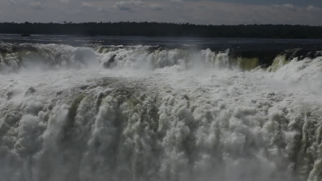 iguazu falls between brazil in argentina - pattern stock videos & royalty-free footage