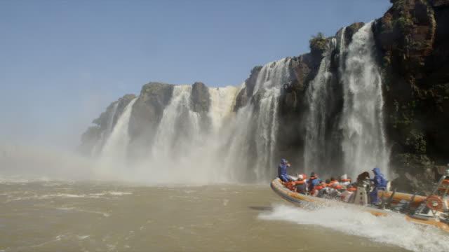 Iguazu Falls with a Boat