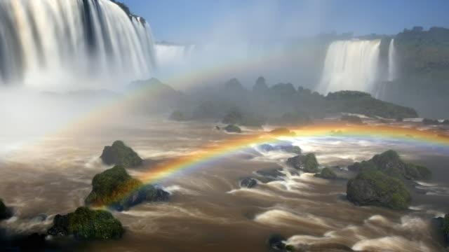 T/L MS Iguazu Falls with rainbow, Brazil