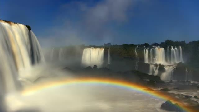 T/L WS Iguazu Falls with rainbow, Brazil