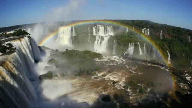 T/L WS HA FISH EYE Iguazu Falls with rainbow, Brazil
