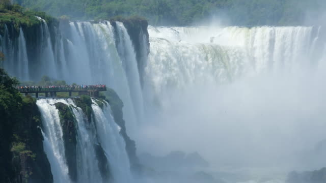 iguazu waterfalls garganta del diablo - argentina stock videos & royalty-free footage
